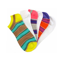 Women's Stripes & Solids No Show Socks Six Pair Pack