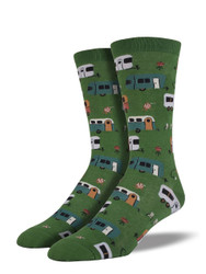 Men's Camptown Crew Novelty Socks - Parrot Green