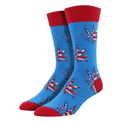Men's Patriotic Plant Crew Novelty Socks