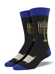 Men's Menorah Crew Novelty Socks