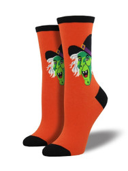 Women's Cackling Witch Crew Novelty Socks