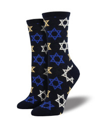 Women's Star Of David Crew Novelty Socks