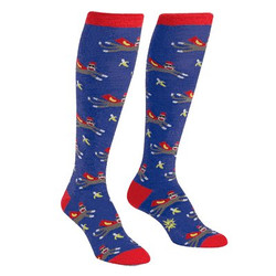 Women's Super Sock Monkey Knee High Socks