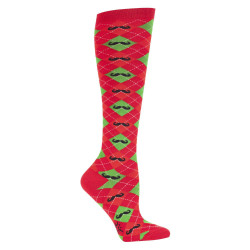 Women's Merry Mustache Christmas Knee High Socks