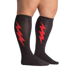Women's Super Hero Wide Calf Knee High Socks