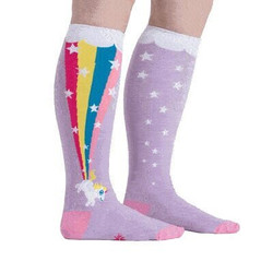 Women's Rainbow Blast Wide Calf Knee High Socks