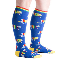 Women's Pride Wide Calf Knee High Socks