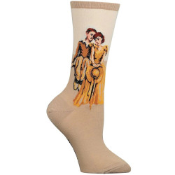 Women's Norman Rockwell On Top of the World Crew Socks