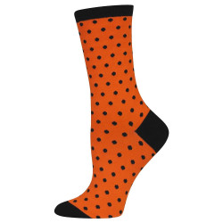 Women's Orange & Black Spooky Dots Socks