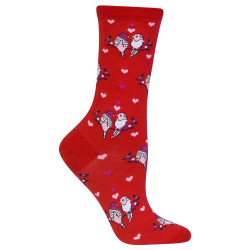 Women's Love Birds & Hearts Crew Socks