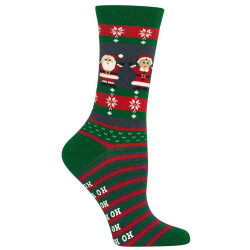 Women's Mr. and Mrs. Claus Non Skid Socks
