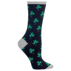 Women's Black Clover Crew Socks