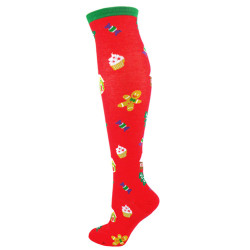 Women's Christmas Treats Knee High Novelty Socks