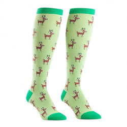Women's Reindeer Games Christmas Knee High Socks