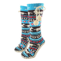 Horse Fair Isle Mukluk Slippers