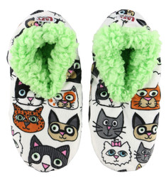 Catitude Fuzzy Feet Slippers