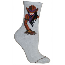 Men's Gray Cowgirl Mid-Calf Socks