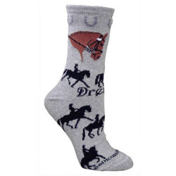 Dressage Socks on Gray