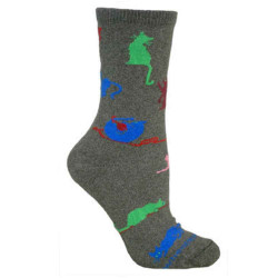 Men's Colorful Playing Cats Crew Socks