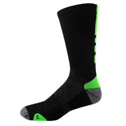X-Large Black and Flo Green Shooter Crew Sport Socks