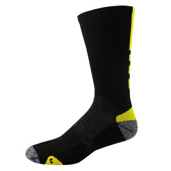 X-Large Black and Flo Yellow Shooter Crew Sport Socks