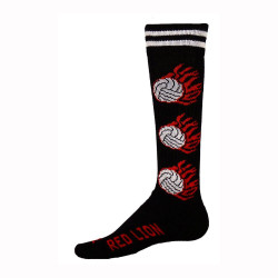 Flaming Volleyball Knee High Sports Socks