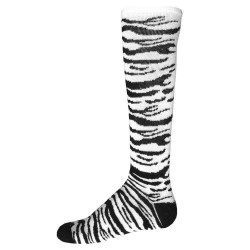 Safari Knee High Sports Socks - White & Black