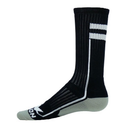 Apex Black with White Crew Sports Socks