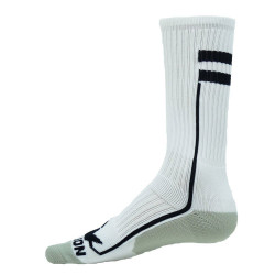 Apex White with Black Crew Sports Socks