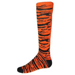 Safari Knee High Sports Socks - Orange & Black
