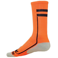 Apex Flo Orange with Black Crew Sports Socks