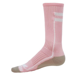 Apex Pink with White Crew Sports Socks