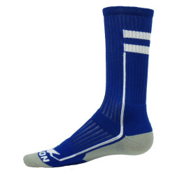 Apex Royal with White Crew Sports Socks