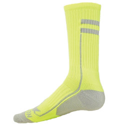 Apex Flo Yellow with Gray Crew Sports Socks