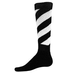 Tornado Knee High Sports Socks - Black & White