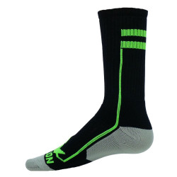 Apex Black with Flo Green Crew Sports Socks