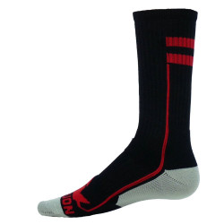 Apex Black with Red Crew Sports Socks