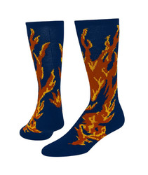 Flame Knee High Sports Socks - Royal Blue