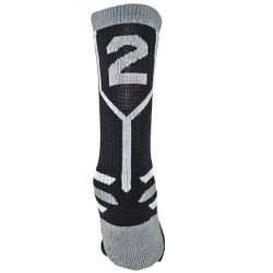 Prime Numbers Crew Sports Socks - (Single Sock) Black #2