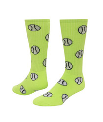 Baseball/Softball Knee High Sports Socks - Neon Green