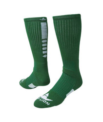 Legend 2.0 Crew Sports Socks - Kelly Green & White