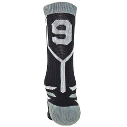 Prime Numbers Crew Sports Socks - (Single Sock) Black #9
