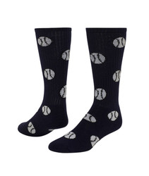Baseball/Softball Knee High Sports Socks - Navy Blue