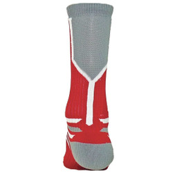 Prime Numbers Crew Sports Socks - (Single Sock) Red