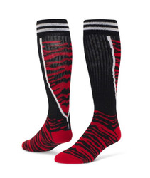 Top Cat Knee High Sports Socks - Black & Red