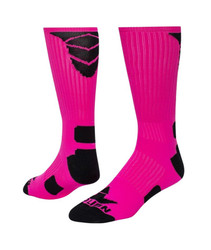 Triumph Crew Sports Socks - Neon Pink & Black