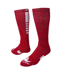 Legend 2.0 Crew Sports Socks - Red & White