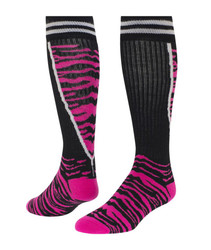 Top Cat Knee High Sports Socks - Black & Neon Pink
