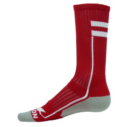 Apex Red with White Crew Sports Socks
