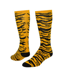 Safari Knee High Sports Socks - Gold & Black